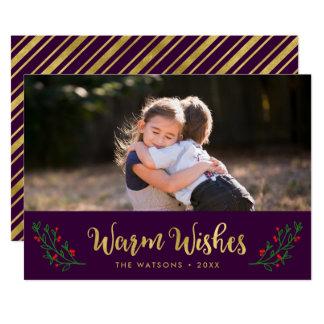 Festliches Laub-warmes Wunsch-Feiertags-Foto 12,7 X 17,8 Cm Einladungskarte