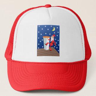 Festliches lustiges Weihnachten Weihnachtsmann auf Truckerkappe