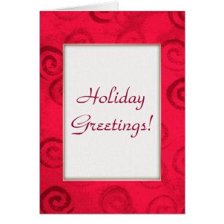 Festliches Rot windt sich Weihnachtskarte Grußkarte
