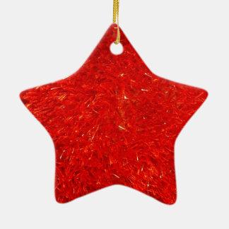 Festliches schickes helles rote Farbmuster Keramik Ornament