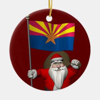 Festliches Vater-Weihnachten, das Arizona Keramik Ornament