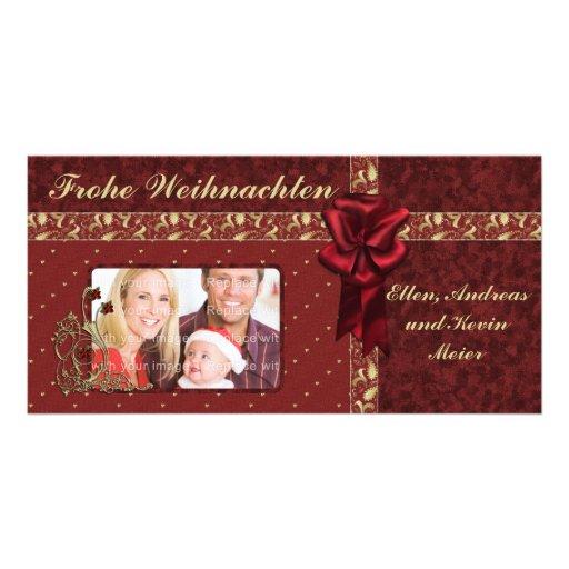 Festliches Weihnachts Entwurf Photokarten