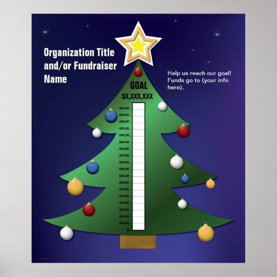 Tannenbaum Diagramm.Festliches Weihnachtsbaum Diagramm Poster