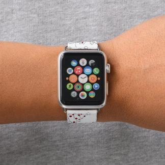 Festliches Weihnachtsmusterapfel-Uhrenarmband Apple Watch Armband
