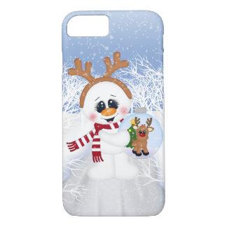 Festliches WeihnachtsSchneemann Feiertag iPhone