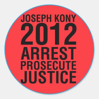 Festnahme Kony2012 verfolgen runden Aufkleber der