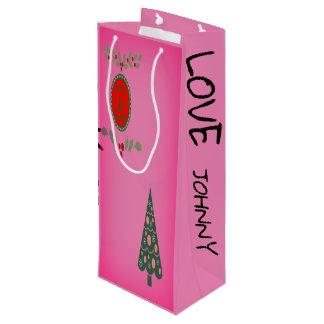Festtages-Stechpalmen-Weihnachtsbaum Geschenktüte Für Weinflaschen