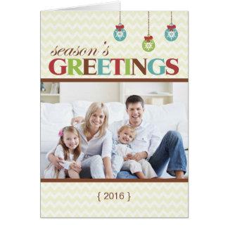 Festtages-Zickzack gefaltete Weihnachtskarte Karte