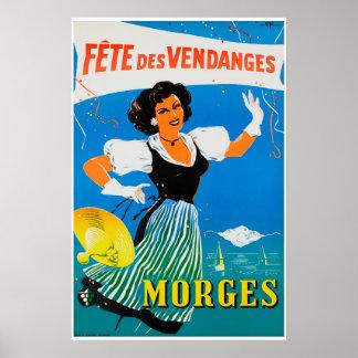 Fête DES Vendanges à Morges Poster