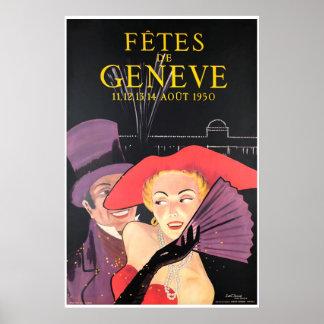 Fêtes de Genève, Août 1950 Poster