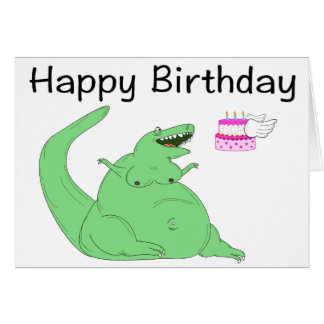 Fette Dinosaurier-Geburtstags-Karte Karte