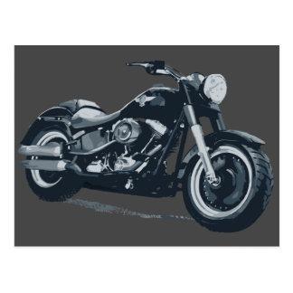Fette Jungen-Postkarte Harley Davidsons