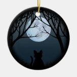 Fette Katzen-Verzierungs-personalisiertes Ornament