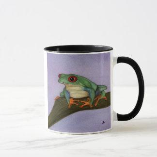 Fette rote mit Augen Baum-Frosch-Tasse Tasse