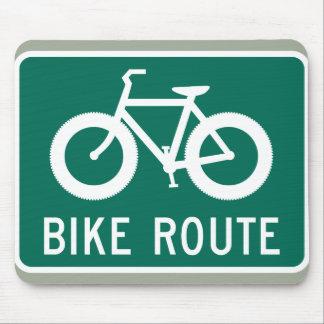 Fetter Fahrrad-Weg Mousepad