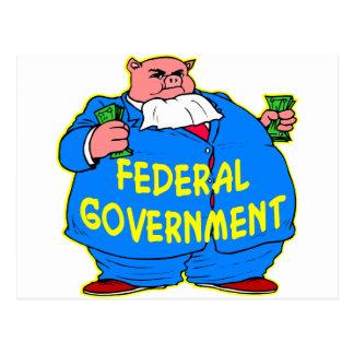Fettes bundesstaatliches Regierungs-Schwein Postkarte