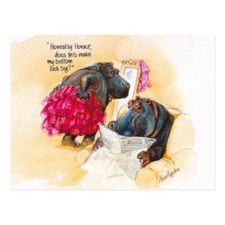 Fettes Flusspferd Postkarte