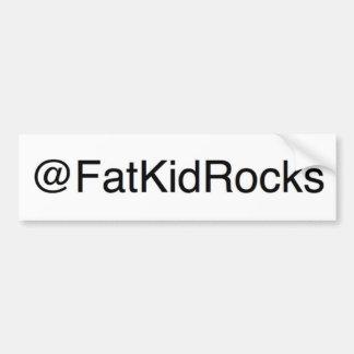 Fettes Kind schaukelt Twitter-Autoaufkleber Autoaufkleber