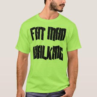 Fettes Mann-Gehen T-Shirt