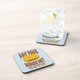 Fettfreie Burger-Diät Getränkeuntersetzer