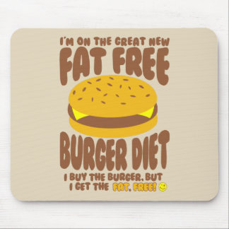 Fettfreie Burger-Diät Mousepad