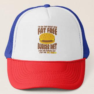 Fettfreie Burger-Diät Truckerkappe