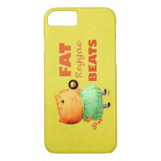 Fetthaltige fetthaltige fette Reggae-Katze iPhone 8/7 Hülle