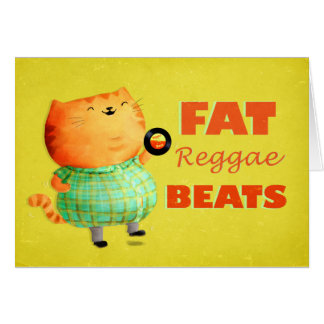 Fetthaltige fetthaltige fette Reggae-Katze Karte