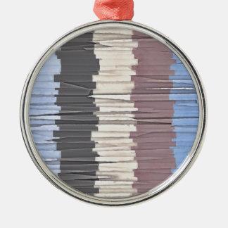 Fetzen von Farbe 4 Rundes Silberfarbenes Ornament