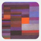 Feuer-Abend durch Paul Klee Quadratischer Aufkleber