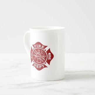 Feuer-Abteilung/Feuerwehrmann-Knochen-China-Tasse Porzellantasse