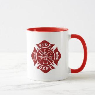 Feuer-Abteilung/Feuerwehrmann-Malteserkreuz-Tasse Tasse