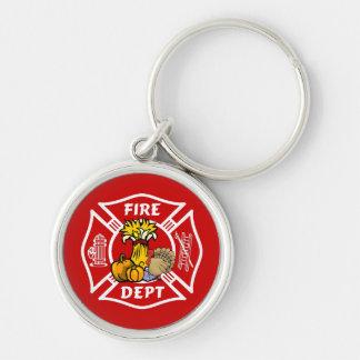 Feuer-Abteilungs-Erntedank-Logo Schlüsselanhänger