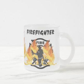 Feuer-Abteilungs-Flammen Mattglastasse