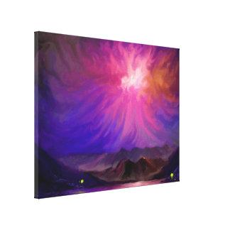 Feuer am Sonnenuntergang - Digital-Kunst-Leinwand  Gespannte Galeriedrucke