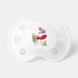 Feuer-Ameise und lila Schmetterling-Liebe ist in Schnuller
