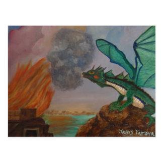 Feuer-atmendrache Postkarte
