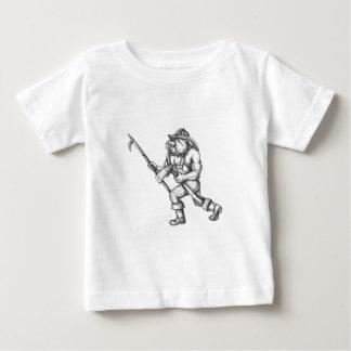 Feuer-Axt-Tätowierung Baby T-shirt