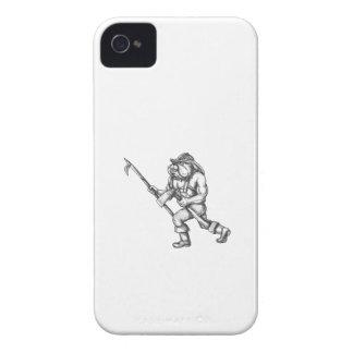 Feuer-Axt-Tätowierung iPhone 4 Etuis