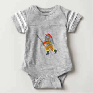 Feuer-Axt-Zeichnen Bulldoggen-Feuerwehrmann-Pikes Baby Strampler