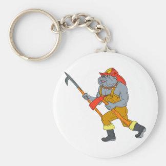 Feuer-Axt-Zeichnen Bulldoggen-Feuerwehrmann-Pikes Schlüsselanhänger
