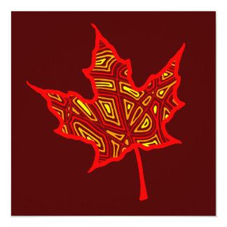 Feuer-Blatt-Einladung Karte
