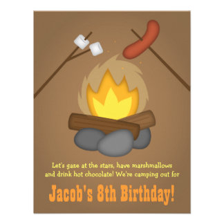 Feuer-Campings-Geburtstags-Party