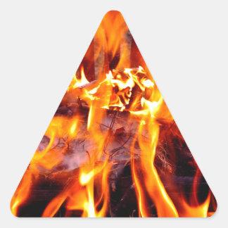 FEUER der LEIDENSCHAFT Dreieckiger Aufkleber