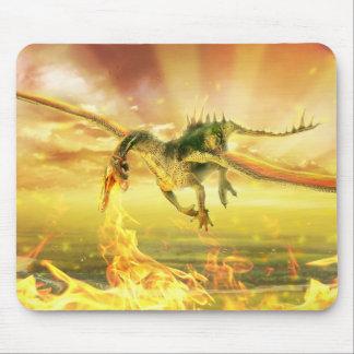 Feuer-Drache-Mausunterlage Mousepad