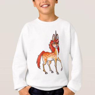 Feuer-Einhorn Sweatshirt