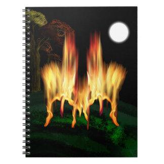 Feuer-Fliege Notizblock