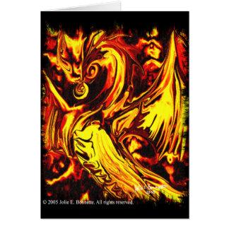Feuer-Geist-Gruß-Karte Karte