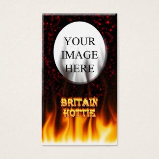 Feuer Großbritanniens Hottie und Flammen Rotmarmor Visitenkarte