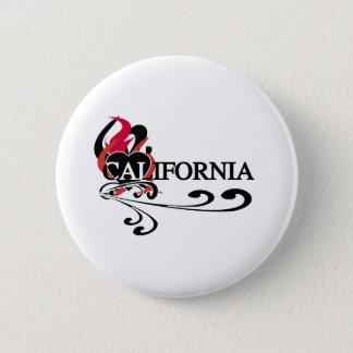 Feuer-Herz Kalifornien Runder Button 5,7 Cm